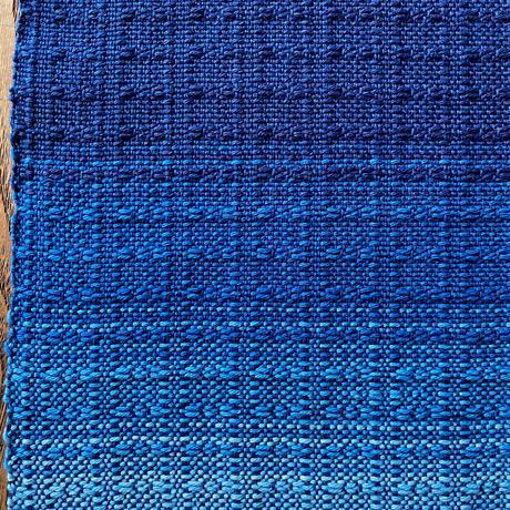 藍染 花風通織 テーブルセンター(小) グラデーション (a-3-2)