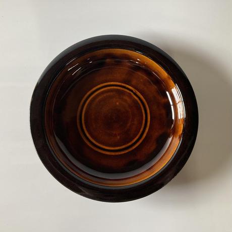 縁反り皿(8.5寸/約25.5cm)飴 (08)