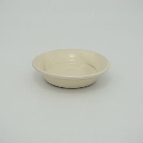 縁付平皿(3.5寸/約10.5㎝)白 (08)