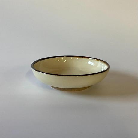 おでん皿(5寸/約15㎝)白縁鉄巻 (08)