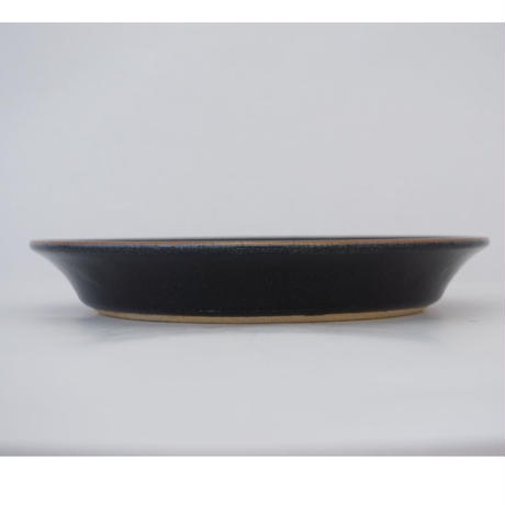 切立平皿(8寸/約24㎝) 黒(07)