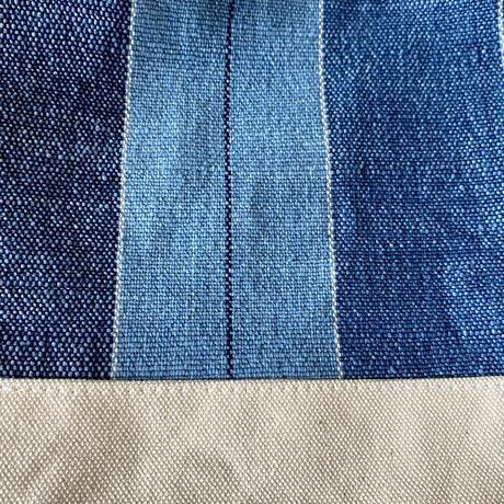 ミニトートバッグ 藍染平織×帆布 (i-13-5)
