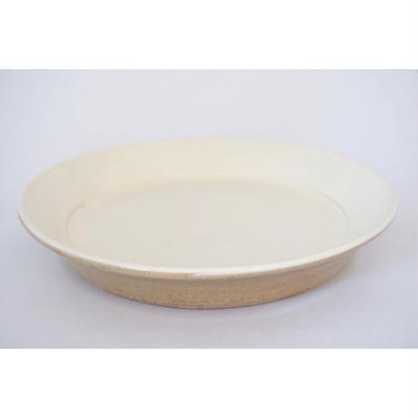 縁付平皿(8寸/約24㎝))白 (07)