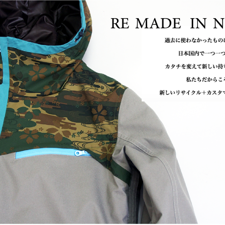 RE-MADE Jacket BLACK MIX TYPE-B