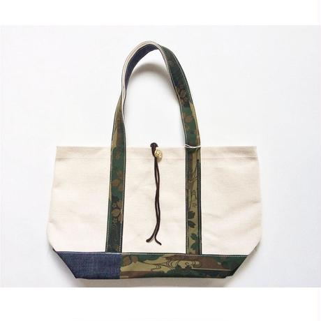 REMADE Patchwork TOTE BAG Midiam(M)Size. 国産4号帆布×ジャパンCAMO