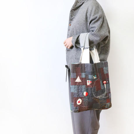 ちくちく2‐faced bag「Braun×G」