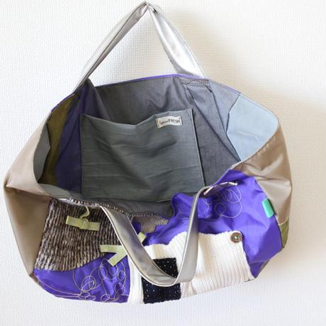 ナイロントートバッグ purple&ribbon