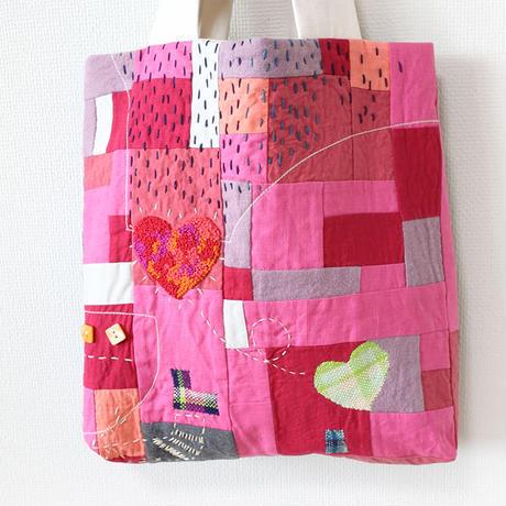 ちくちく2‐faced bag「P&B」2