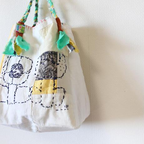 刺繍バッグ「ハナモヨウ」