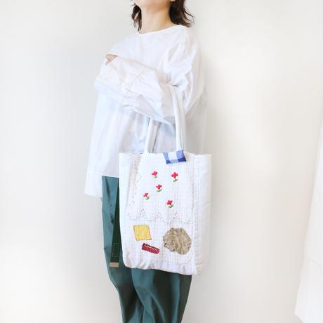 ホワイト刺繍バッグkobana再販2