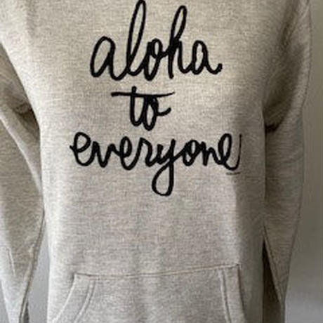 aloha to everyone  かぶりパーカー オートミール WOMEN'S
