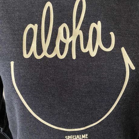 aloha smile かぶりパーカー ヘザーネイビー WOMEN'S