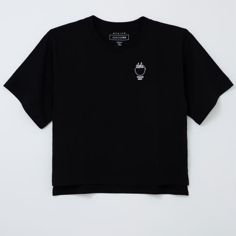 aloha smile  BLACK  ビックTシャツ WOMEN'S FREE