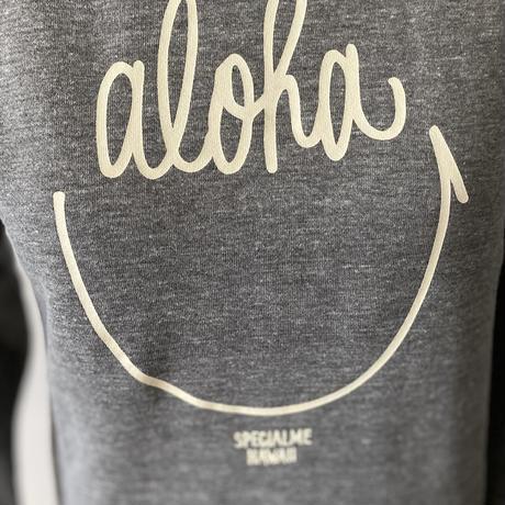 aloha smile かぶりパーカー ヘザーグレイ WOMEN'S