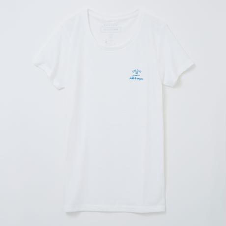block logo ホワイト WOMEN'S