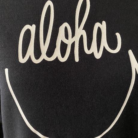 aloha smile かぶりパーカー へザーブラック WOMEN'S