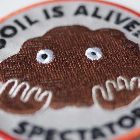 土ワッペン・SOIL IS ALIVE!