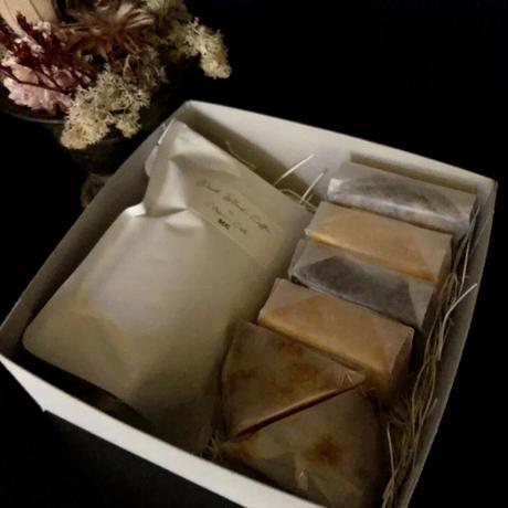 クラシックケーキ 5種カット&ダークブレンドコーヒー詰め合わせ