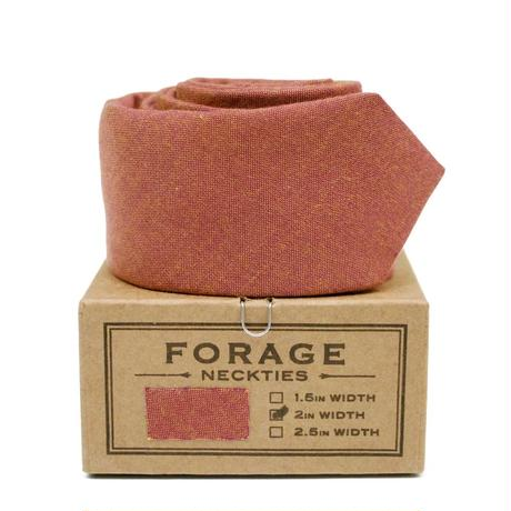 FORAGE ネクタイ-brown chambray-