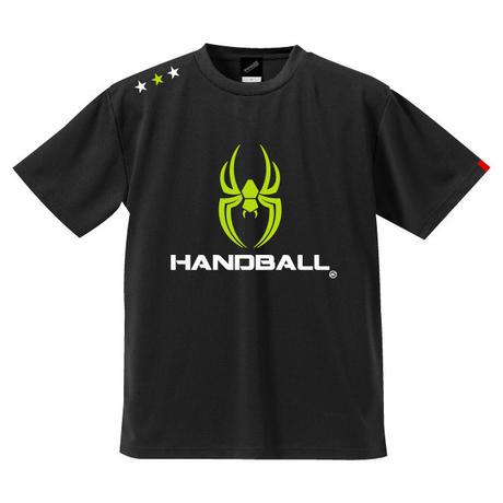 REAL SPIDERハンドボールTシャツ SP-T06   ブラック×ネオングリーン