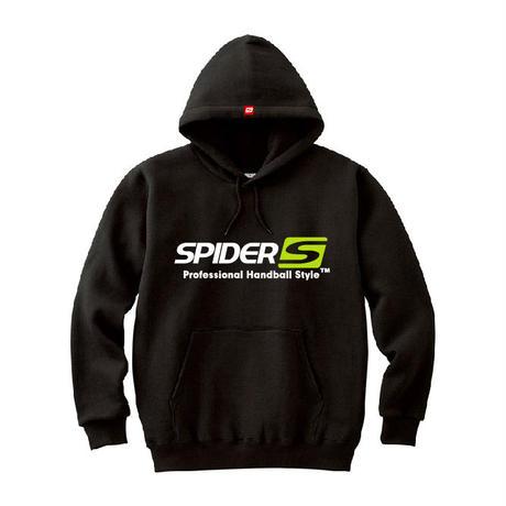 SPIDERハンドボールフーデッドパーカ SP-SPW01  ブラック×ホワイト×ネオングリーン