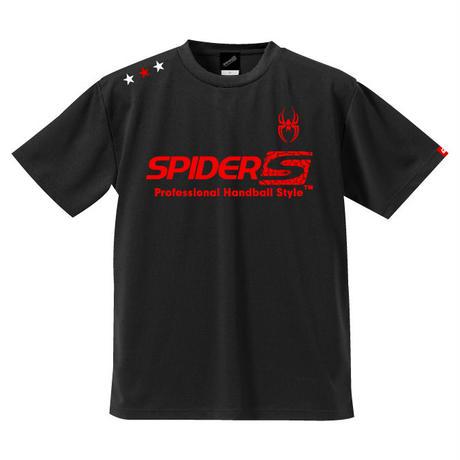 REAL SPIDERハンドボールTシャツ SP-T03   ブラック×レッド