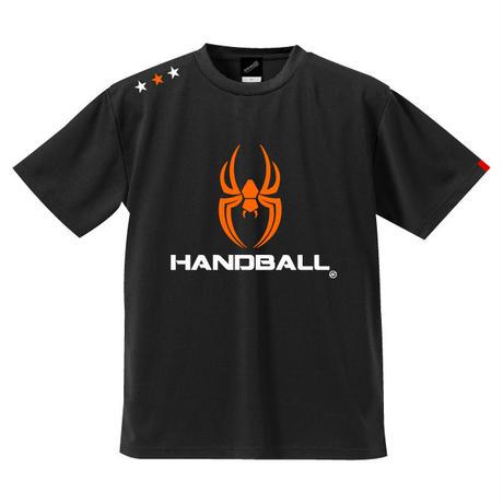 REAL SPIDERハンドボールTシャツ SP-T06   ブラック×オレンジ