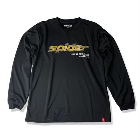 SPIDERドライL/STシャツ SP-DLTBR03 ブラック