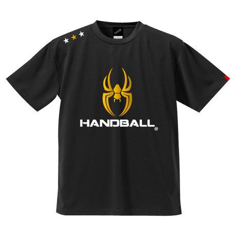 REAL SPIDERハンドボールTシャツ SP-T06   ブラック×ゴールド