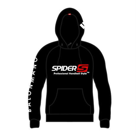 SPIDERハンドボールフーデッドパーカ SP-SPW02  ブラック×ホワイト×レッド