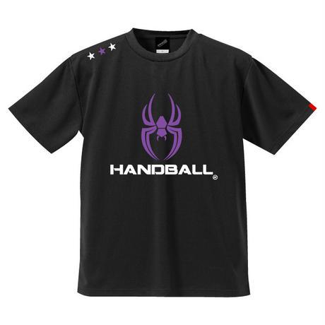 REAL SPIDERハンドボールTシャツ SP-T06   ブラック×グレープ