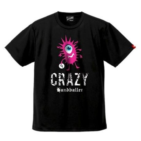 CRAZY HANDBALLER ドライTシャツ02 ブラック