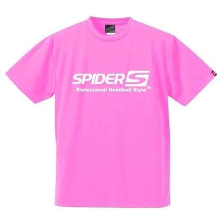 スパイダーハンドボールTシャツSP-SPRT01NPW/ネオンピンク