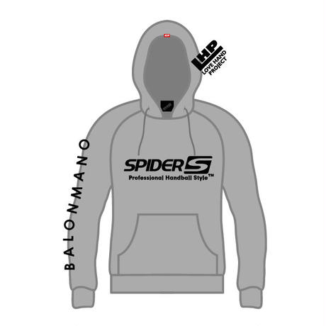 SPIDERハンドボールフーデッドパーカ SP-SPW02  グレー×ブラック