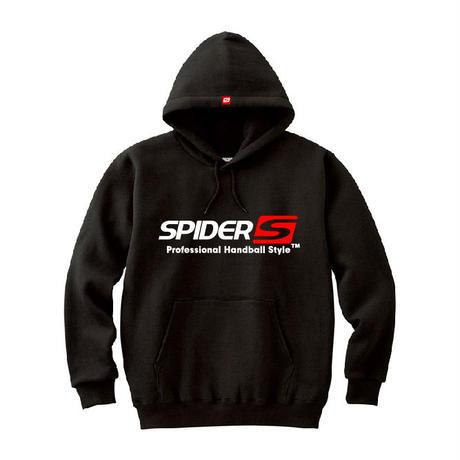 SPIDERハンドボールフーデッドパーカ SP-SPW01  ブラック×ホワイト×レッド