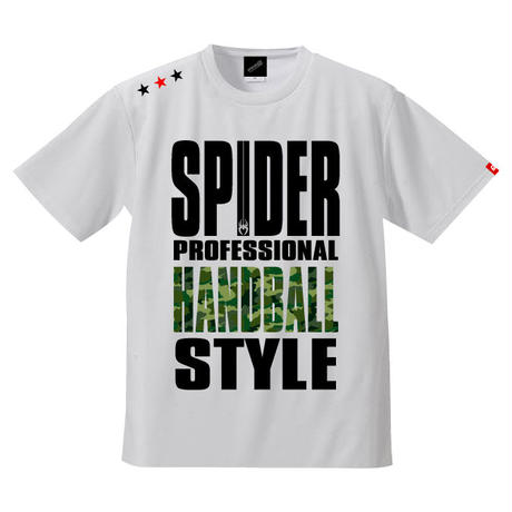 REAL SPIDERハンドボールTシャツ  SP-T01   ホワイト×迷彩柄グリーン