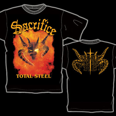 "SACRIFICE ""Total Steel"" Official T-shirt"