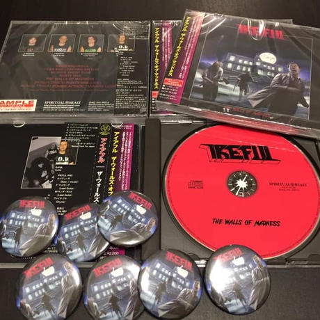 "IREFUL ""The Walls Of Madness"" (Japan Edition + obi)+ Special Gift-pin"