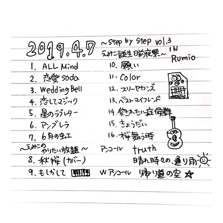 えみこ誕生前夜祭 in Rumio 2019.4.7 DVD 2枚組