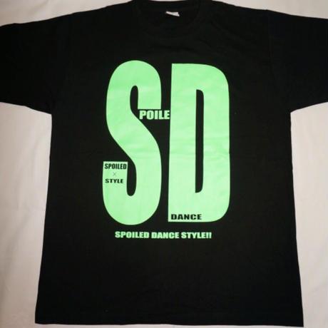 SDビックプリントTシャツ(ネオングリーン)
