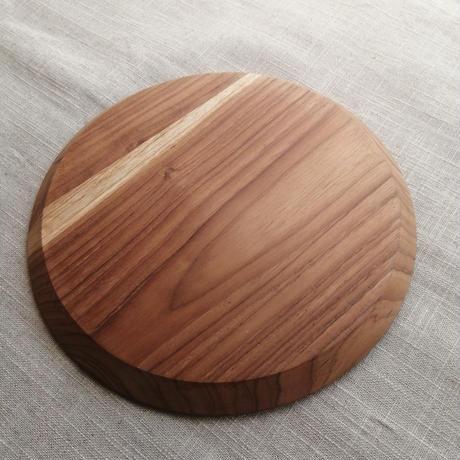 プレート (丸) チーク材 天然木