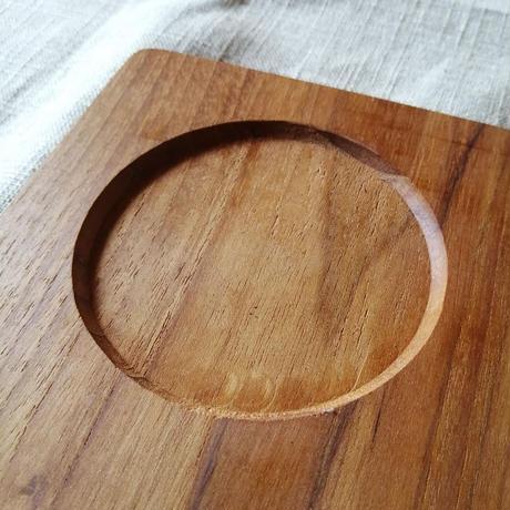 プレート (Large) チーク材 天然木