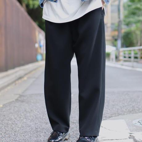 スポンジクロスワイドスラックス【ブラック】 L-46