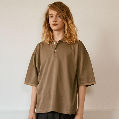OVER SIZED POLO【BEIGE】 L221
