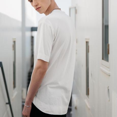 モダールレイヤードTシャツ【ホワイト】
