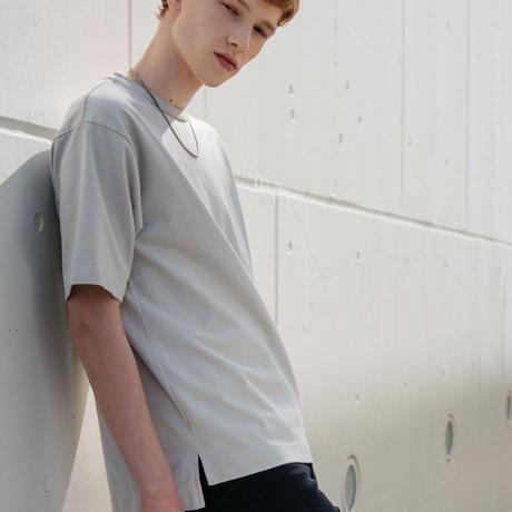 新疆綿甘撚りビッグTシャツ【ライトグレー】