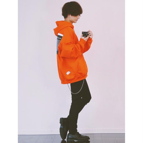 復刻KaneZ MUXIMUM PENALTY PULL HOODIE【ORANGE】 K001