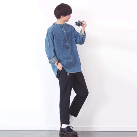 TAPERED ANKLE SLACKS【BLACK】 L211