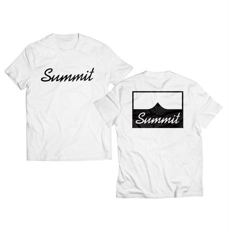 SUMMIT W-Side Logo  T-Shirts White