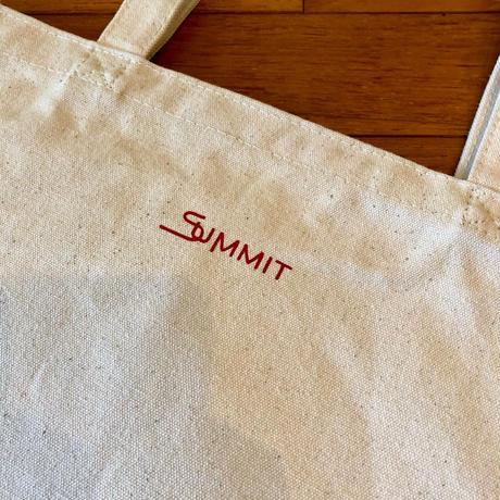 """SUMMIT """"雪山"""" ロゴトートバッグ"""